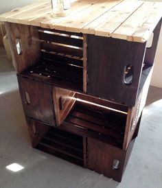 Beautiful Crate Kitchen Island Cart by UCrateIt on Etsy