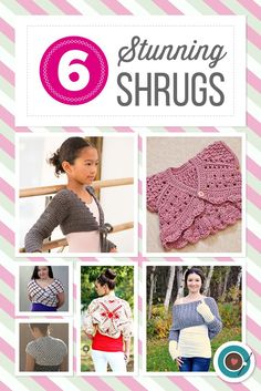 6 Stunning Shrugs. Cute crochet patterns for Spring!
