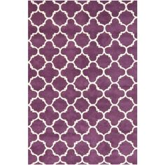 Chatham Purple and Ivory Rectangular: 4 Ft. x 6 Ft. Rug - (In Rectangular)
