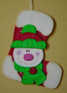 Bota de navidad. www.facebook.com/ManualidadesKarelia