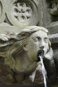 Fountain Detail at Linlithgow Castle, the birthplace of Mary, Queen of Scots, Scotland - photo by Judie Metz