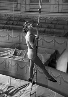 vintage trapeze performer.
