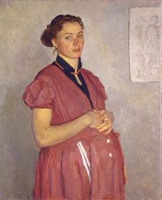 Portrait of the Artist's Wife. 1953 Oil on canvas. 85х70 Property of the artist