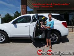 "Pam Gabel from Chillicothe, Missouri purchased this 2012 Chevrolet Equinox and wrote, ""5 stars. Love the service and friendly smiles. There's a definite ""can do"" attitude here at Woody's! Great place to do business!"" To view similar vehicles and more, go to www.wowwoodys.com today!"