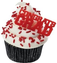 Congrats Grad Red Cupcake Picks 24Pack ** Details can be found by clicking on the image.