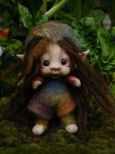 sweet 3 inch  tiny fairy fairie  bug friend by throughthemagicdoor, $55.00