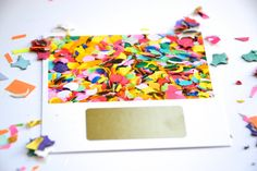 Carte à gratter confettis par annoncegrossesse sur Etsy