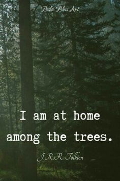 quotes, J. Tolkien Quote I am at home among the trees. Tolkien Quotes, J. R. R. Tolkien, Pagan Quotes, The Words, Citations Tolkien, Forest Quotes, Quotes About Forest, Into The Woods Quotes, Hiking Quotes