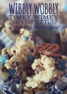 Wibbly Wobbly Timey Wimey Popcorn Stuff by Three Little Monkeys Studio