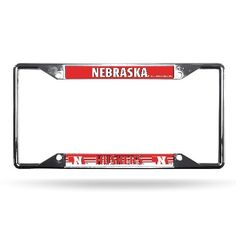 NCAA Nebraska Chrome License Plate Frame  http://allstarsportsfan.com/product/nba-easy-view-chrome-plate-frame/?attribute_pa_teamname=nebraska  Officially licensed products from rico High grade materials used to make all rico gear Don't let your team down, let it pop off with rico
