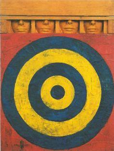 storia dell'arte moderna e contemporanea: 1955 Jasper Johns Target with Four Faces
