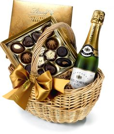 The Champagne & Chocolate Hamper by Regency Hampers
