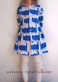 Blue Cat Coat by Unikuun terapiahuone  #Miszkomaszko