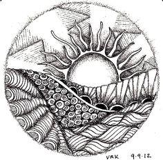 Circle Zentangle  . . .
