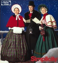 RARE ~ HARD-TO-FIND & LAST ONE!! Mint condition, uncut sewing pattern includes paper pattern pieces and instructions to make Charles Dickens Christmas Caroler costumes in sizes XS-XL (30-48 chest; 31-49 hips). Make vest, skirt, cape, hats, collar, bag, muff and neck tie. I have HUNDREDS of new, out-of-print and vintage patterns, so be sure to visit often to see whats new. Visit my COSTUMES, SEASONAL and other sections for more patterns and save on combined shipping. ** ONLY 50¢ shippin...