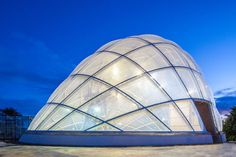 Fascinating New Greenhouse at Aarhus Botanical Garden Changes Transparency at Different Pressures