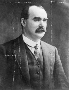 Leaders of the 1916 Easter Rising: James Connolly - The Wild Geese. He got my Great granda to Scotland after the rising. In a cargo barrel. Ireland 1916, Irish Independence, The Wild Geese, Easter Rising, Erin Go Bragh, Michael Collins, Al Capone, Irish Roots, Magical Forest