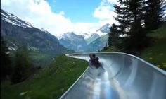 Mountain Coaster in Kandersteg, Switzerland