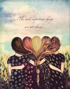 Five sisters best friends with brown and reddish hair art print and quote by claudiatremblay on Etsy art Best Friend Drawings, Bff Drawings, Best Friend Pictures, Best Friend Quotes, Mom Quotes, Sister Quotes, Daughter Quotes, Change Quotes, Reddish Hair