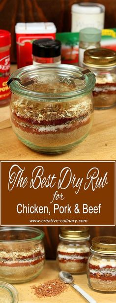 The Best Dry Spice Rub for Chicken, Beef and Pork is a must for your next barbecue; it has the perfect blend of ingredients to up your BBQ game! Homemade Dry Mixes, Homemade Spice Blends, Homemade Spices, Homemade Seasonings, Bbq Dry Rub, Dry Rubs, Chutney, Dry Rub For Chicken, Best Chicken Rub