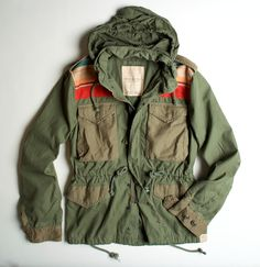 Ralph Lauren Denim and Supply field jacket Field Jacket, Rain Jacket, Military Fashion, Mens Fashion, Revival Clothing, Textiles, Denim And Supply, Swagg, Parka