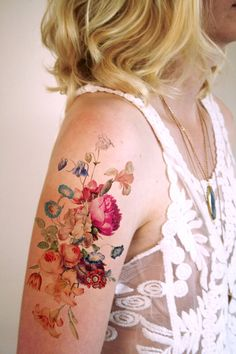 Vintage Floral Temporary Tattoos by Tattoorary - My Modern Met
