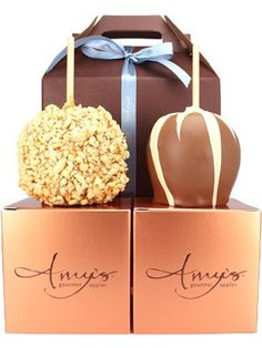 Gourmet candy apples by Amy's apples. Had one of these over the weekend and will definitely be ordering some of these for myself soon!