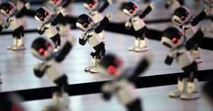 100 robots performed a synchronized dance routine in Tokyo on Monday.