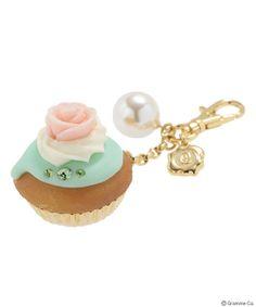 Rose CupCake Bag Charm