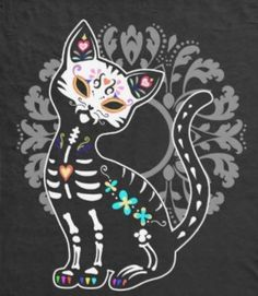 day of the dead cat, by RoseRoom
