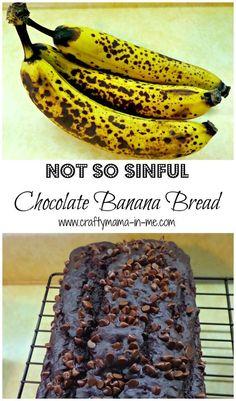 Not So Sinful Chocolate Banana Bread (scheduled via http://www.tailwindapp.com?utm_source=pinterest&utm_medium=twpin&utm_content=post61075898&utm_campaign=scheduler_attribution)