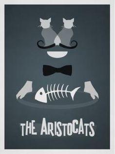 Rowan Stocks Moore's minimalist versions of Disney Film Posters- The Aristocats Disney Minimalista, Poster Minimalista, The Aristocats, Animated Movie Posters, Disney Animated Movies, Film Posters, Poster Frames, Cartoon Posters, Pixar