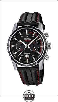 Festina F16874/4 - Reloj de pulsera hombre, Cuero, color Negro de  ✿ Relojes para hombre - (Gama media/alta) ✿