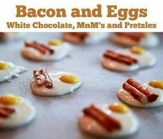 Bacon & egg candies (6 geese-a-laying)