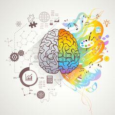 Buy Left Right Brain Concept by macrovector on GraphicRiver. Left and right brain concept with colors music and science flat vector illustration. Editable EPS and Render in JPG f. Left Brain Right Brain, Brain Illustration, Fantasy Magic, Brain Art, Brain Tricks, Arts Integration, Medical Art, Anatomy Art, Art Plastique