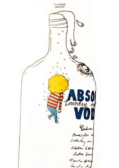 absolut vodka 2015 / pen on paper + digital art  -  http://www.facebook.com/illuxtrator