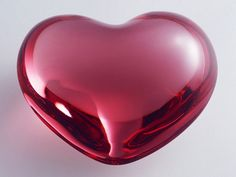 Heart - red glass