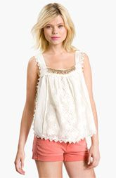 Free People 'New Romantics - Desert Babe' Embellished Crochet Camisole