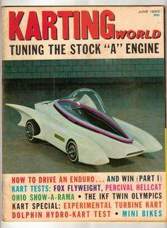 Karting World June 1963 Experimental Kart Race Magazine Vintage Mini-Bike Hydro