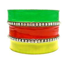 2014 Brasil World Cup Wrist Fashion Female Bracelets and Bangles. BrazilFlag Symbolic Fashion Jewelry Chic Rhinestone Bangle Set $5.50