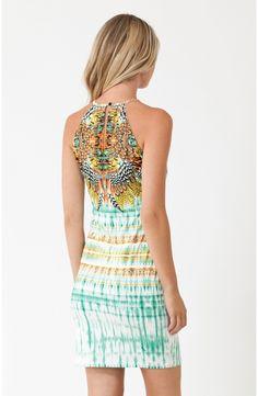 Coral Keyhole Dress