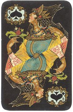 пики Cool Playing Cards, Vintage Playing Cards, Printable Playing Cards, Deck Of Cards, Card Deck, Oracle Cards, Joker, Rey, Vintage Art