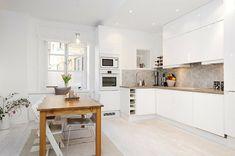 kleine skandinavische k che einrichten k che pinterest. Black Bedroom Furniture Sets. Home Design Ideas