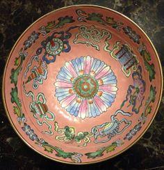 Qing Dynasty Tongzhi Chinese Famille Rose 8 Symbol Bowl