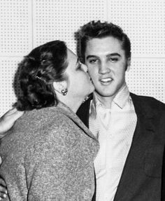 Elvis and his mother, Gladys Love Presley.
