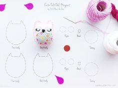 Owl with felt pattern