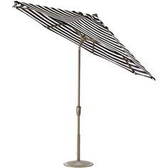 Home Decorators Collection 7.5 ft. Auto-Tilt Patio Umbrella in Maxim Classic Sunbrella with Champagne Frame