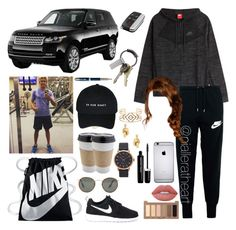 """""""Buying a Range Rover with Niall"""" by nialleratheart on Polyvore featuring NIKE, Lime Crime, Urban Decay, Marc Jacobs, OUTRAGE, Topshop, Balenciaga, CB2, Parker and Stella & Dot"""
