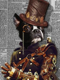 tattoo you can hide * tattoo you can Art Steampunk, Steampunk Animals, Dog Canvas Painting, Dog Paintings, Teddy Pictures, Cute Pictures, Custom Dog Portraits, Pet Portraits, Avatar Cartoon