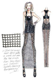 Roberto Cavalli Sketches Beyoncé